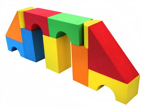 Eva foam building blocks toys for kids for Foam block construction house plans